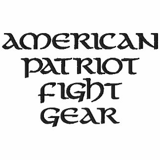 American Patriot Fight Gear Embroidered Shirt