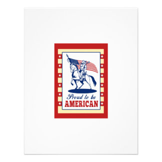 American Patriot Independence Day Poster Greeting Personalized Announcement