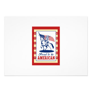 American Patriot Independence Day Poster Greeting Custom Invitations