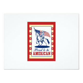 American Patriot Independence Day Poster Greeting Announcements