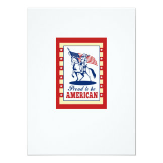 American Patriot Independence Day Poster Greeting Custom Invite