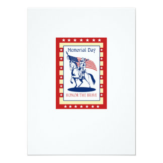 American Patriot Memorial Day Poster Greeting Card Invitation