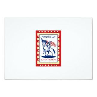 "American Patriot Memorial Day Poster Greeting Card 3.5"" X 5"" Invitation Card"