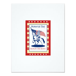 "American Patriot Memorial Day Poster Greeting Card 4.25"" X 5.5"" Invitation Card"