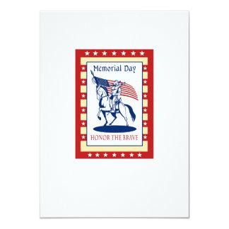 "American Patriot Memorial Day Poster Greeting Card 4.5"" X 6.25"" Invitation Card"