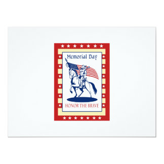 "American Patriot Memorial Day Poster Greeting Card 6.5"" X 8.75"" Invitation Card"