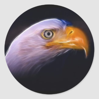 American Patriotic Bald Eagle, National Symbol Classic Round Sticker