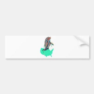 American Patriotic Bottlenose Dolphin Bumper Sticker