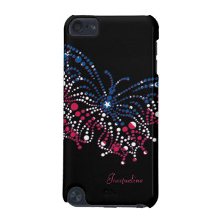 American Patriotic Dots Butterfly Flag iPod 5 Case iPod Touch 5G Cover