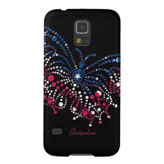 American Patriotic Dots Butterfly Galaxy S5 Case