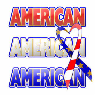 American Patriotic Ribbon Acrylic Cut Outs