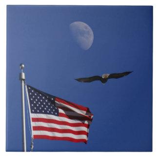American Patriotic Ceramic Tile
