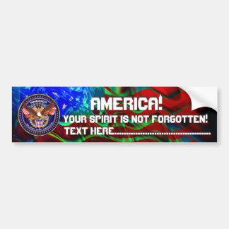 American Patriotic View Notes Please Bumper Sticker