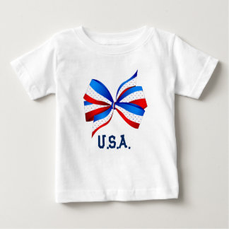 American Patriotic with Red White and Blue Baby T-Shirt