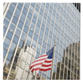 American Patriotism Large Square Tile