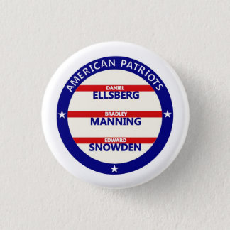 American Patriots 3 Cm Round Badge