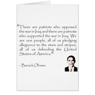 American patriots opposed to war greeting card