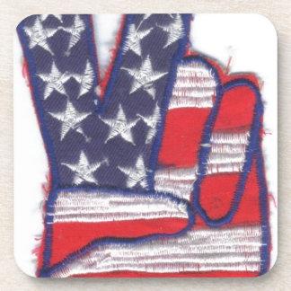 american peace flag coaster