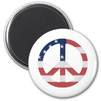 American Peace Sign Products! 6 Cm Round Magnet