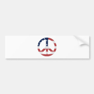 American Peace Sign Products! Bumper Sticker