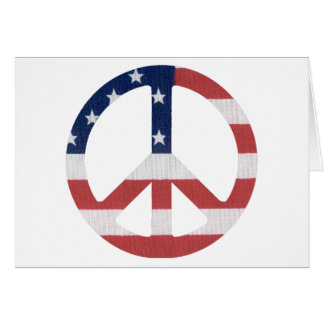 American Peace Sign Products! Greeting Card