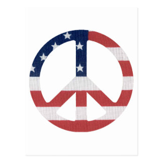 American Peace Sign Products! Postcard