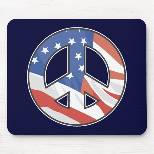 American Peace Symbol Mouse Pad