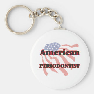 American Periodontist Basic Round Button Key Ring