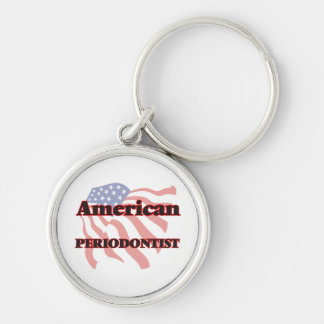 American Periodontist Silver-Colored Round Key Ring