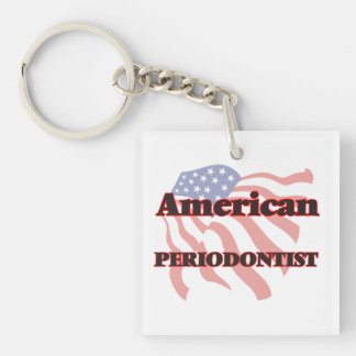 American Periodontist Single-Sided Square Acrylic Key Ring