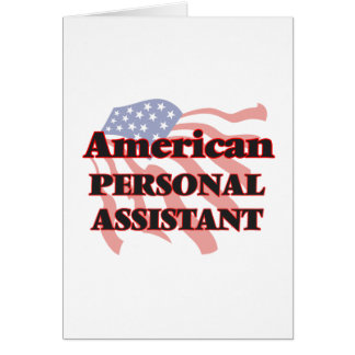 American Personal Assistant Greeting Card