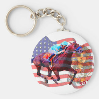 American Pharoah 2015 Basic Round Button Key Ring