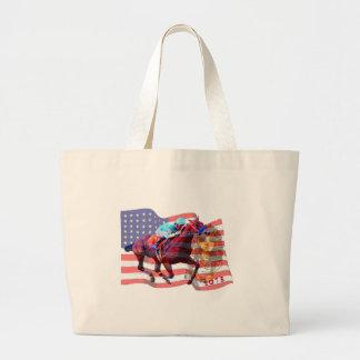 American Pharoah 2015 Large Tote Bag