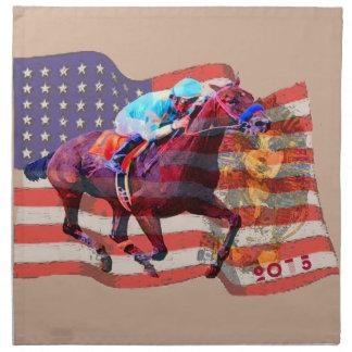 American Pharoah 2015 Printed Napkin