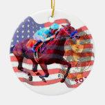 American Pharoah 2015 Round Ceramic Decoration