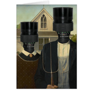 American Photographic Err Gothic Greeting Card