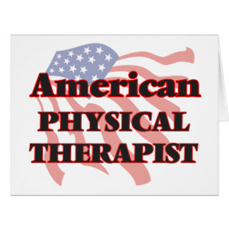 American Physical Therapist Big Greeting Card