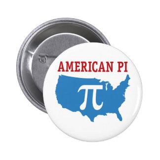 American Pi 6 Cm Round Badge