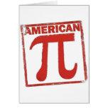 American Pi Greeting Card