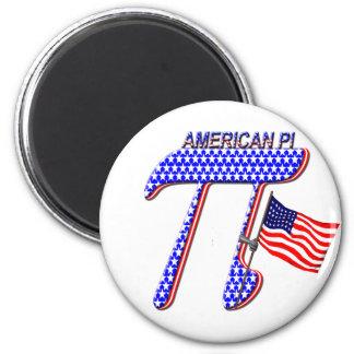 AMERICAN PI (PIE) - MATH HUMOR 6 CM ROUND MAGNET