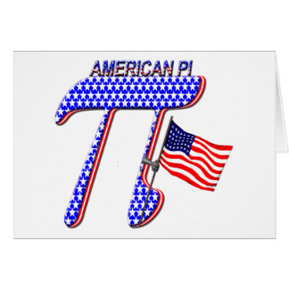 AMERICAN PI (PIE) - MATH HUMOR GREETING CARD