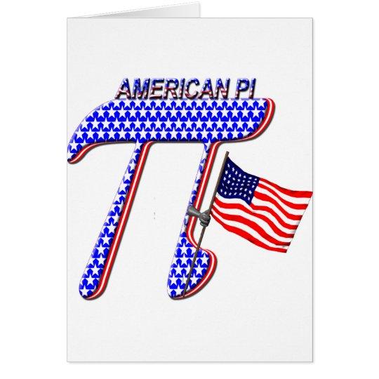 AMERICAN PI (PIE) - MATH HUMOR GREETING CARD