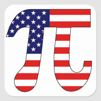American Pi Square Sticker