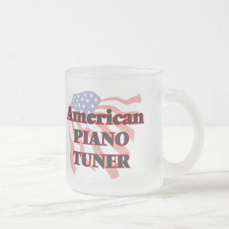 American Piano Tuner Frosted Glass Mug