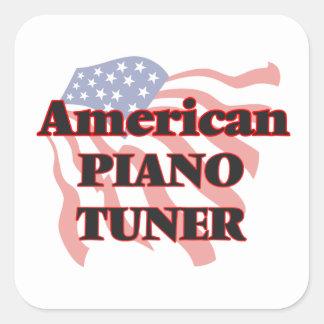 American Piano Tuner Square Sticker