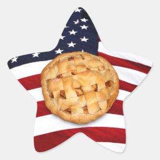 American Pie (Apple Pie with American Flag) Star Sticker