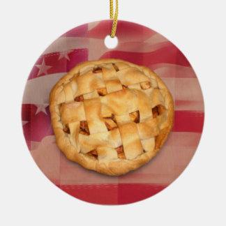 American Pie Round Ceramic Decoration