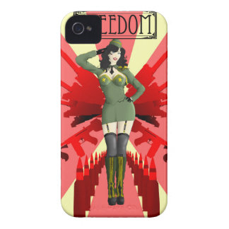 American Pinup Freedom iPhone 4 Case-Mate Case