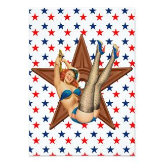 American pinup star card