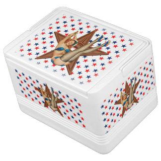 American pinup star igloo cool box